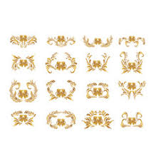 golden background with floral ornament royalty free vector