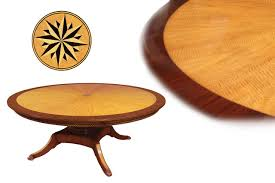 Expanding Table by Charming Custom Round Dining Tables And Made Solid Walnut Tripod