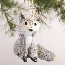 fiber fox ornaments set of 2 world market
