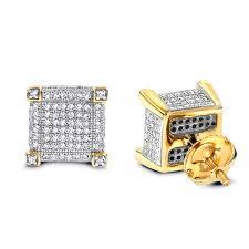 real diamond earrings 14k diamond stud earrings 0 7