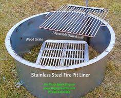 Firepit Liner None Stainless Stainless Pit Liner Grill Pot Holder For Those