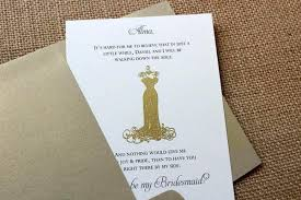 bridesmaids invitation cards bridesmaid invitation cards gold moonlightster