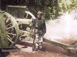 french 75mm 12 year old serbian soldier dragoljub jelichich in 1914 standing