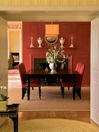 dining room dining room with natural brown color design equipped