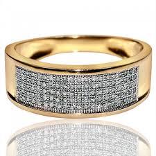 8mm diamond wide wedding band mens diamond ring 0 3ct diamonds pave set 10k
