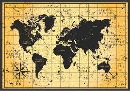Vintage World Map by Vintage World Map Wallpaper Pocket Press