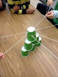 Challenge Do You Tie It Team Building Task The Cup Challenge Take A Rubber Band And Tie