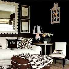 Best Black  White Decor Images On Pinterest Home - Black and white living room decor
