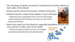 plants native to europe the columbian exchange ppt download
