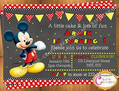 mickey mouse invitation red mickey mouse 1st by thepartytown