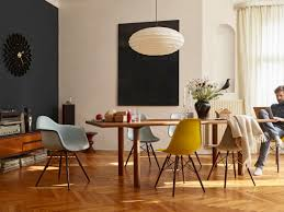 buy the vitra dsw eames plastic side chair dark maple base at nest