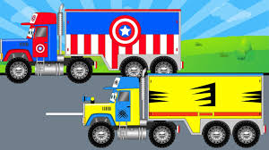 monster truck video for kids captain america truck vs wolvrine truck monster trucks for kids