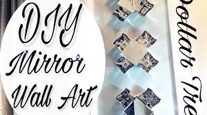 part 4 diy dollar tree home decor mirror wall art youtube