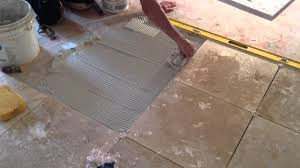 flooring installingoor tile over concrete board on linoleum