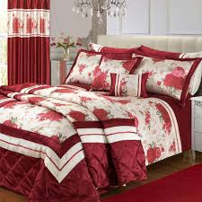 bedroom curtain and bedding sets bedroom red floral print curtain bedding set wayne home decor