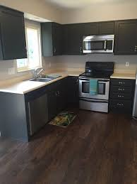 Hampton Bay Cabinets Contemporary Kitchen With Flat Panel Cabinets U0026 High Ceiling In