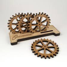 gear bamboo coasters u0026 personalized base holder coaster design