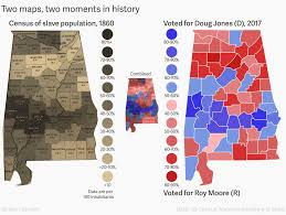 Map Alabama How Doug Jones Beat Roy Moore Maps Of Alabama In 1860 And 2017