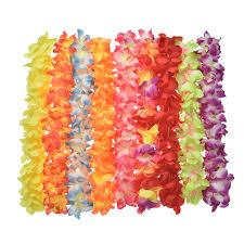 festival decorations artificial flowers false flower necklace hawaii beach wedding