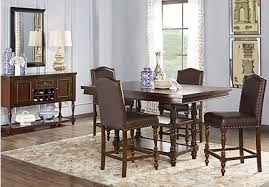 counter height dining room table sets brown dining room table sets