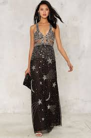 black friday prom dresses nasty gal collection dancing out in space beaded maxi dress