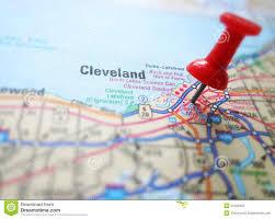 Map Of Cleveland Ohio Cleveland Stock Photo Image 42422023