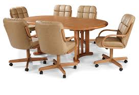 kitchen table and chairs with casters chromcraft furniture kitchen chair with wheels vintage atomic