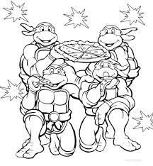 teenage mutant ninja turtles coloring pages shredder colors