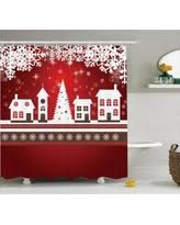 Red White Shower Curtain Red Shower Curtains Bhg Com Shop