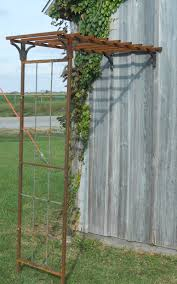 half mission arbor trellis for wall attachment 87