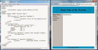 html div tag php programming for beginners lecture 7 html layout using table