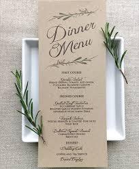 diy wedding menu cards best 25 wedding menu ideas on diy wedding menu cards
