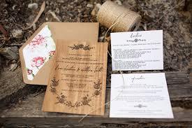 wooden wedding invitations matt s rustic floral wood veneer wedding invitaions