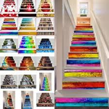 6pc 3d selfadhesive staircase stair riser floor sticker diy wall