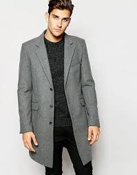 light grey wool coat asos asos wool overcoat in light grey