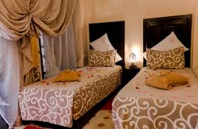 chambre lits jumeaux chambre lits jumeaux berbère marraplace riad hôtel marrakech