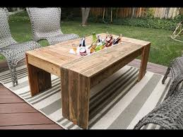 coffee table with cooler rustic pallet wood coffee table with drink cooler youtube