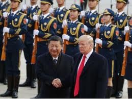 trump trump holds talks with xi after lavish welcome in china