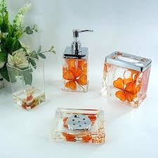 orange bathroom decorating ideas fabulous bathroom accessories orange sets ideas bathroom