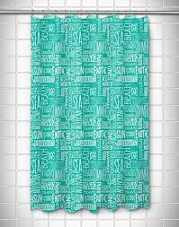 Words Shower Curtain Coastal Shower Curtains
