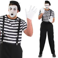 Mime Halloween Costumes Mime Artist Costume U2013 Mens Womens Circus Mime Fancy Dress Carnival