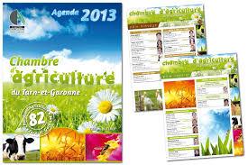 chambre d agriculture tarn et garonne création graphique agenda chambre d agriculture 82 agence de