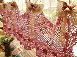 Crochet Kitchen Curtains by 704 Best Crochet Curtains örgü Perdeler Images On Pinterest