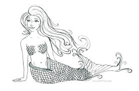 printable coloring pages of mermaids coloring pages of mermaids attienel me