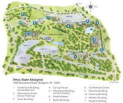 pennsylvania state map cus map penn state abington