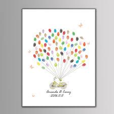 wedding gift amount 2017 2017 new canvas wedding tree creative fingerprint guest book