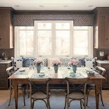 Kitchen Table With Built In Bench Eat In Kitchen Window Seat Nook Design Ideas