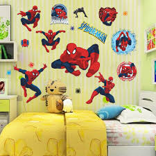 Decoration Kids Wall Decals Home by Movie Character 3d Cartoon Spiderman Wall Stickers For Kids Rooms