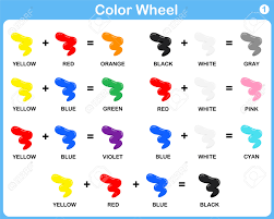 color wheel worksheet red blue yellow color for kids royalty