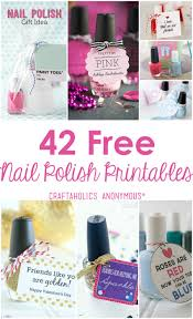 craftaholics anonymous 42 nail polish printables